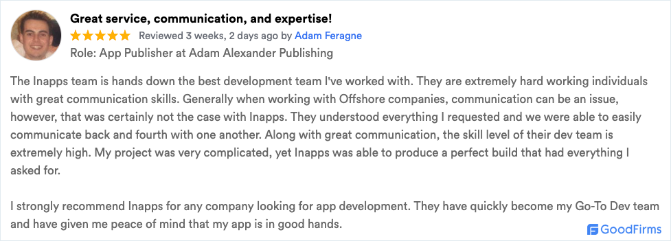 inapps client review mobile development