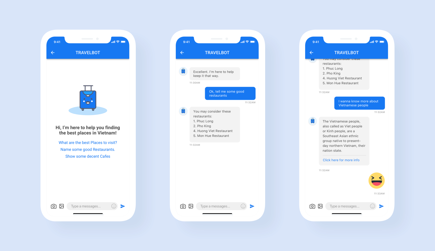 travel chatbot app